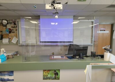 sneeze shield for school library classroom front lab or desk